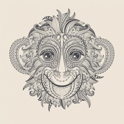 Chinese Monkey Tatoo Design