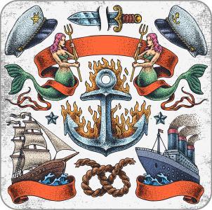 Sailors' tattoo set