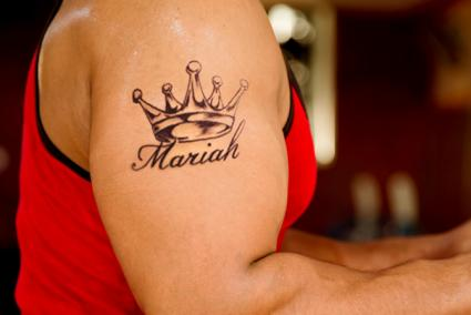 crown tattoo with name