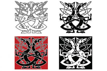 Celtic Dog Tattoo Designs