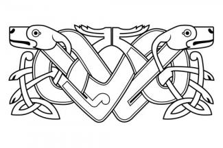 Celtic Knot Dog Tattoo Design