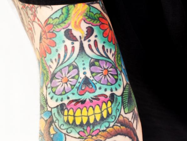 colorful calavera