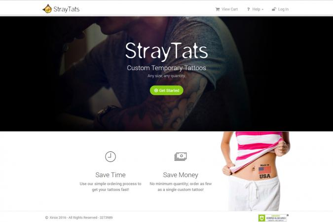 Screenshot of StrayTats.com