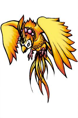 Illustrated phoenix