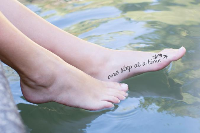 One step at a time tattoo