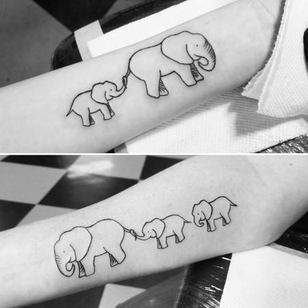 Elephant tattoos by Lara Blair Keatts