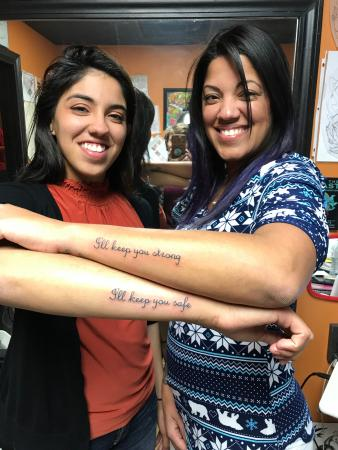 Safe and strong matching mother/daughter tattoos