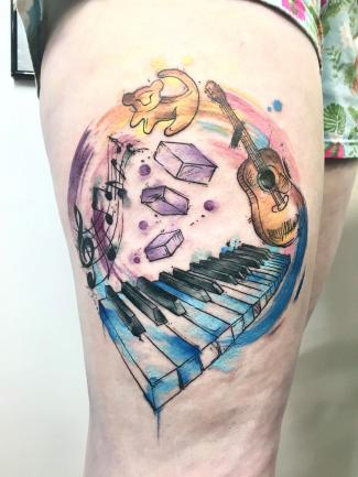 Piano and life tattoo