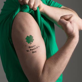 Man with St. Patrick's Day Tattoo