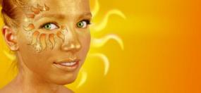 Sun face paint design