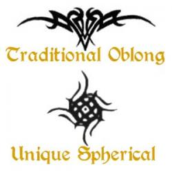 Oblong and Spherical Lower Back Tattoos