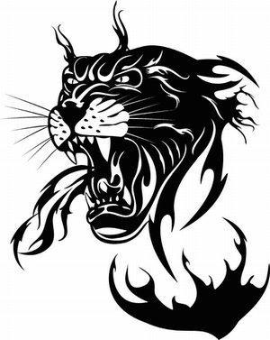 panther head tattoos rh tattoos lovetoknow com Pink Panther Clip Art Panther Mascot Clip Art