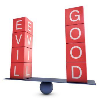 The balance of good and evil