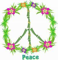 Bamboo peace sign