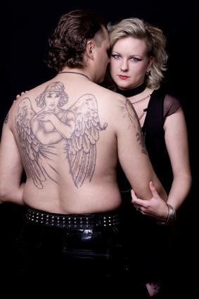 Angel Back Tattoo Mural