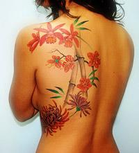 Exotic floral tattoo