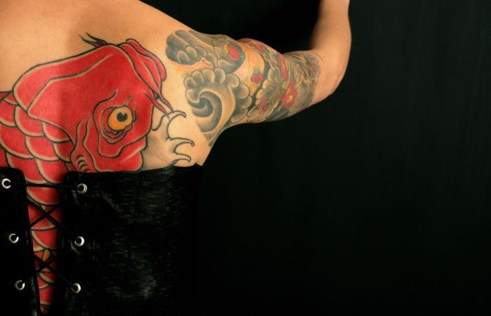Tatuaje de Koi