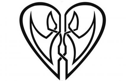 Corazón de los amantes celtas