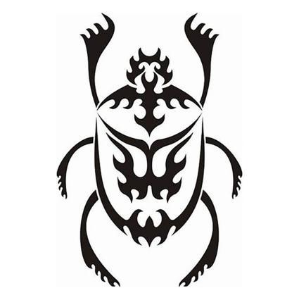 Diseño de escarabajo tribal