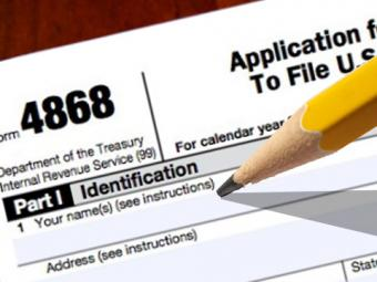 How to File Tax Form 4868