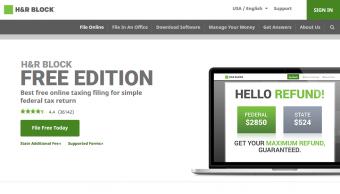 H&R Block's Free File Website