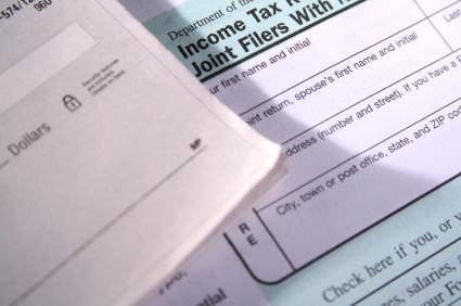 Check and tax form