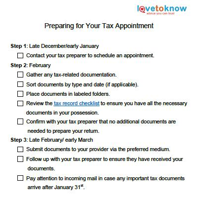 tips for preparing for your tax appointment | lovetoknow