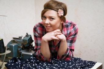 teen sewing