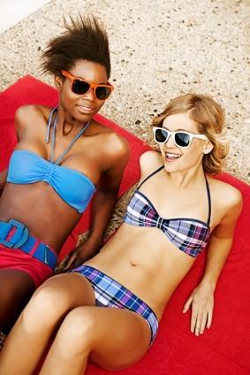 girl in bikini with belt