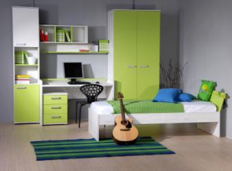teen girl in bedroom