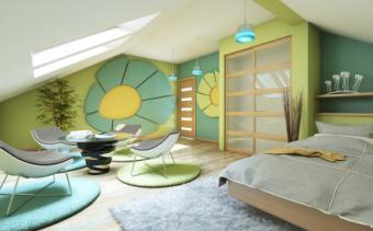 Teenage room relaxation zone