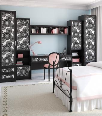 Teenage room creative storage