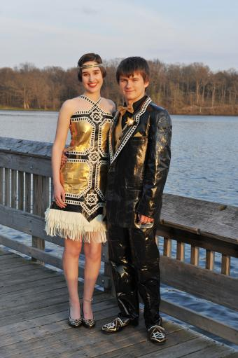 Third place winners Duck prom dress contest 2014
