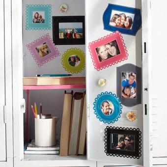 Locker decor ideas from diyhomedecorguide.com