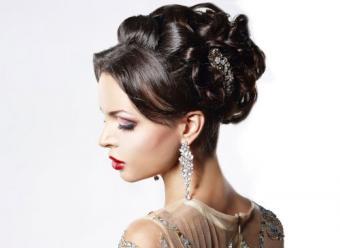 girl with beautiful earrings