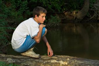Boy on Log