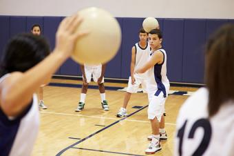 Students Playing Dodge Ball