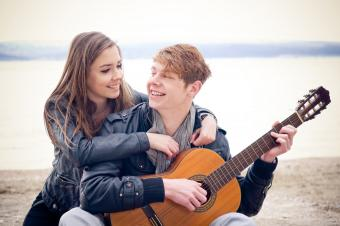 musician with girlfriend