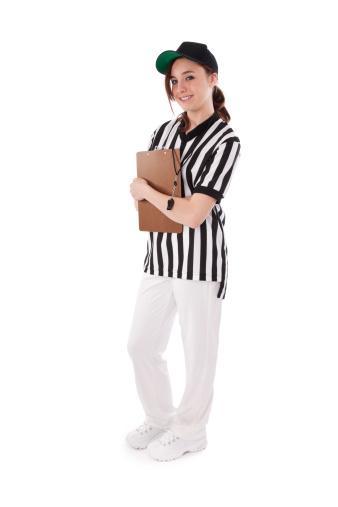 Teenager Dressed as Referee