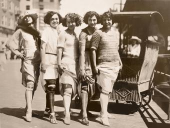 Young Women Showing Their Garter Belts/ CIRCA 1920'S