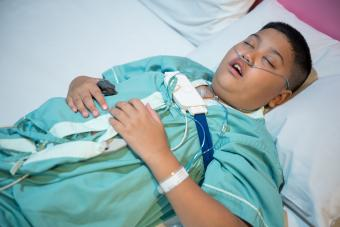 teen at a sleep clinic