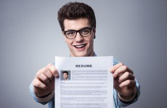 Teen with resume