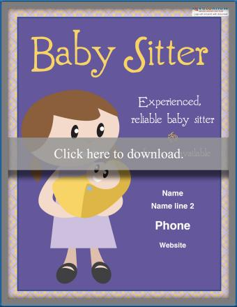 Responsible Girl Babysitting Poster