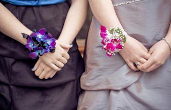 Prom corsage bracelets single-color