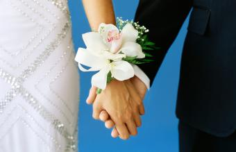 Girl with a big corsage