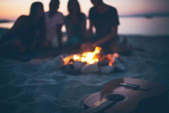 Campfire at the beach
