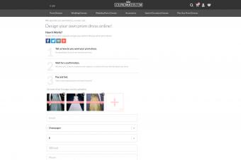 Screenshot of Lolipromdress website