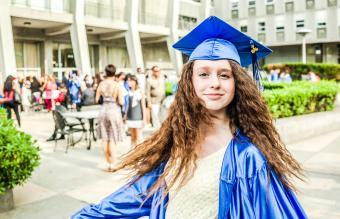 Graduated student girl