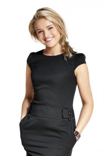 girl in little black dress