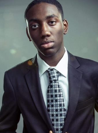 young man in a suit